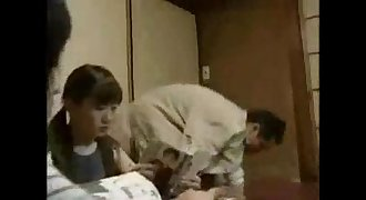 Eighteen year old Japanese girl and step
