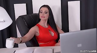 Busty Secretary Aletta Ocean gets Titty Fucked ...