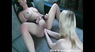 Hot Asian babe double fist fucked in her gaping cunt